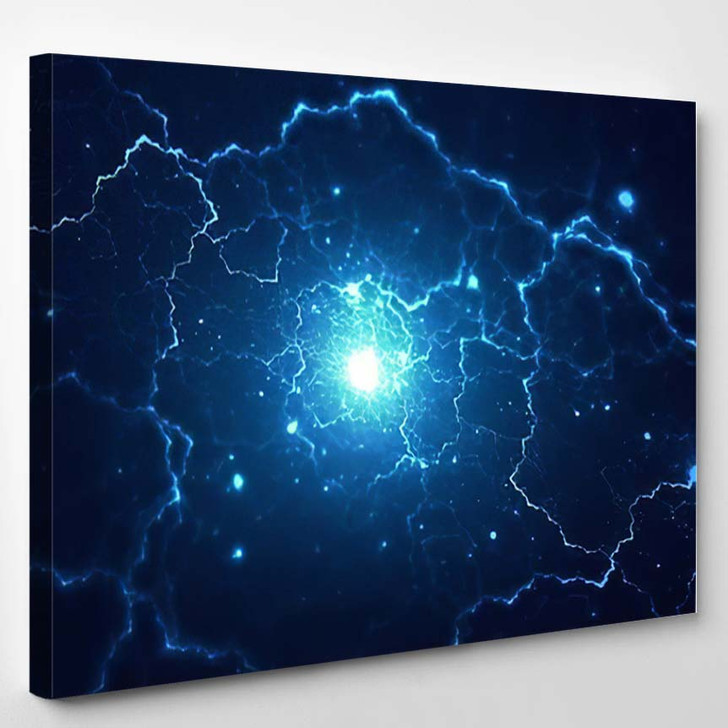 Abstract Blurry Explosion Background - Galaxy Sky and Space Canvas Art Print