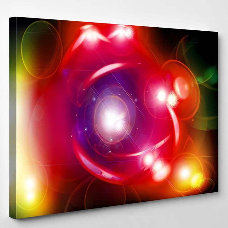 Abstract Degraded Background Different Colors 3 - Galaxy Sky and Space Canvas Art Print