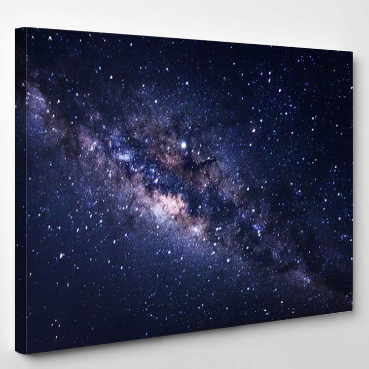 Abstract Milky Way Galaxy Background Purpose 2 - Galaxy Sky and Space Canvas Art Print