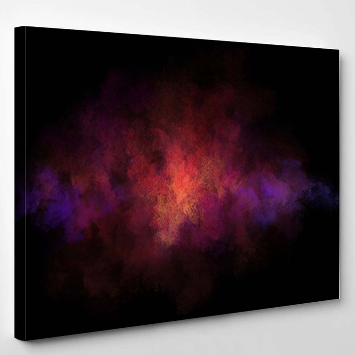 Abstract Nebula Clouds Color Smoke On - Galaxy Sky and Space Canvas Art Print
