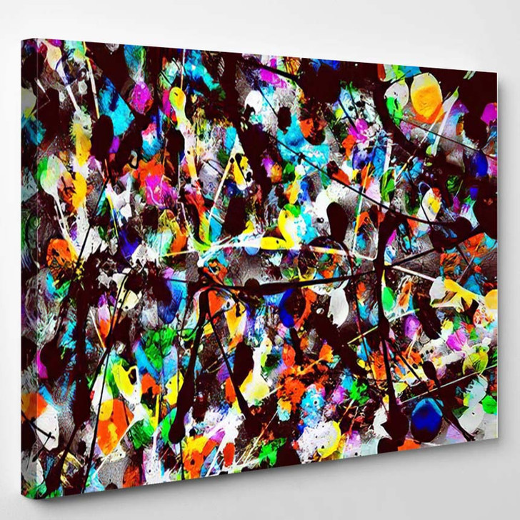 Abstract Original Oil Acrylic Painting Handmade - Galaxy Sky and Space Canvas Art Print