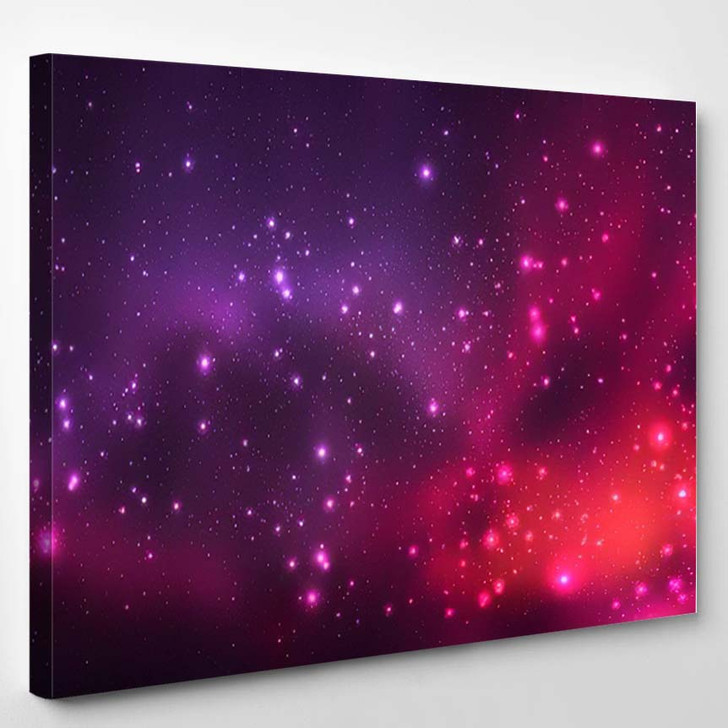 Abstract Picture Beautiful Starry Sky Cosmic - Galaxy Sky and Space Canvas Art Print