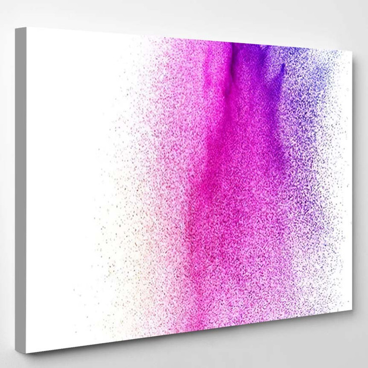 Abstract Pink Dust Explosion On White 1 - Galaxy Sky and Space Canvas Art Print