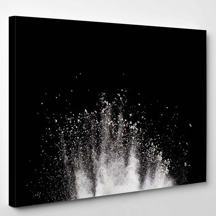 Abstract Powder Splatted Backgroundfreeze Motion Color 3 - Galaxy Sky and Space Canvas Art Print