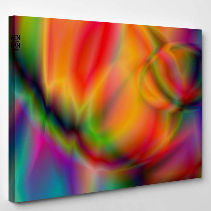 Abstract Smooth Gradient Colors Shiny Flare 1 - Galaxy Sky and Space Canvas Art Print