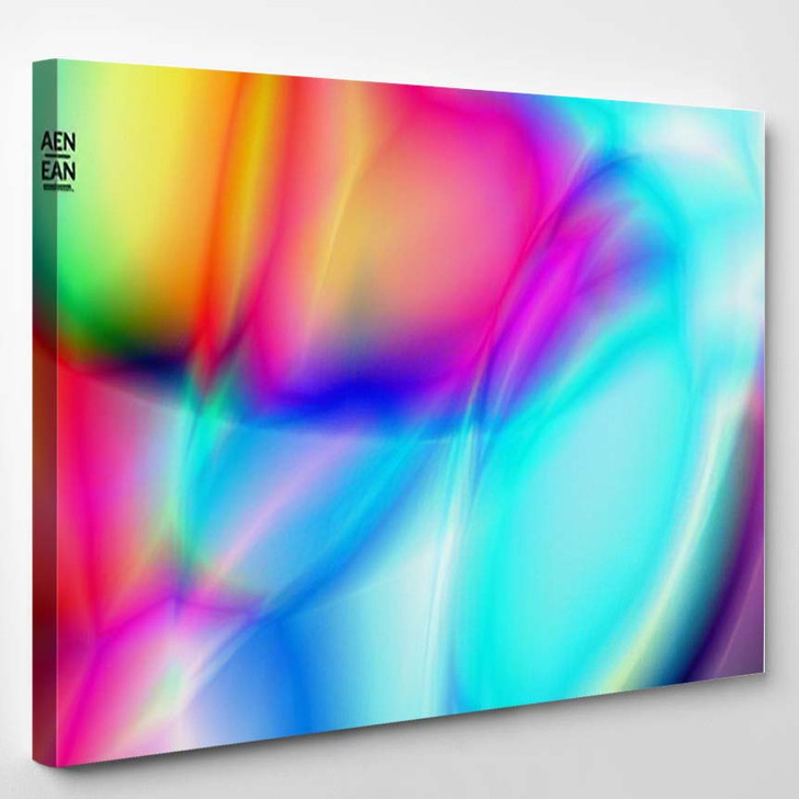 Abstract Smooth Gradient Colors Shiny Flare 1  1 - Galaxy Sky and Space Canvas Art Print