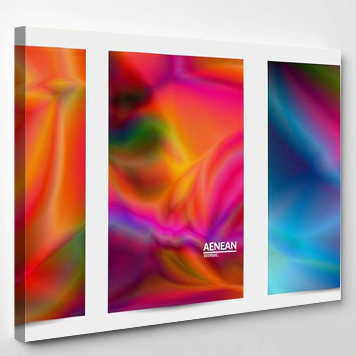 Abstract Smooth Gradient Colors Shiny Flare 2 - Galaxy Sky and Space Canvas Art Print