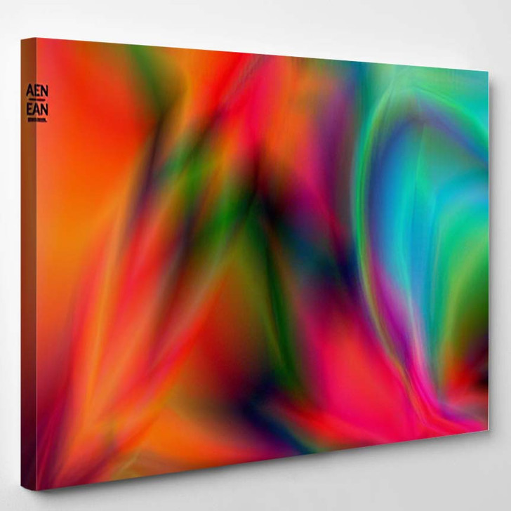 Abstract Smooth Gradient Colors Shiny Flare 3 - Galaxy Sky and Space Canvas Art Print