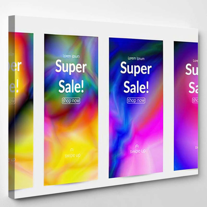 Abstract Smooth Gradient Colors Shiny Flare 8 - Galaxy Sky and Space Canvas Art Print