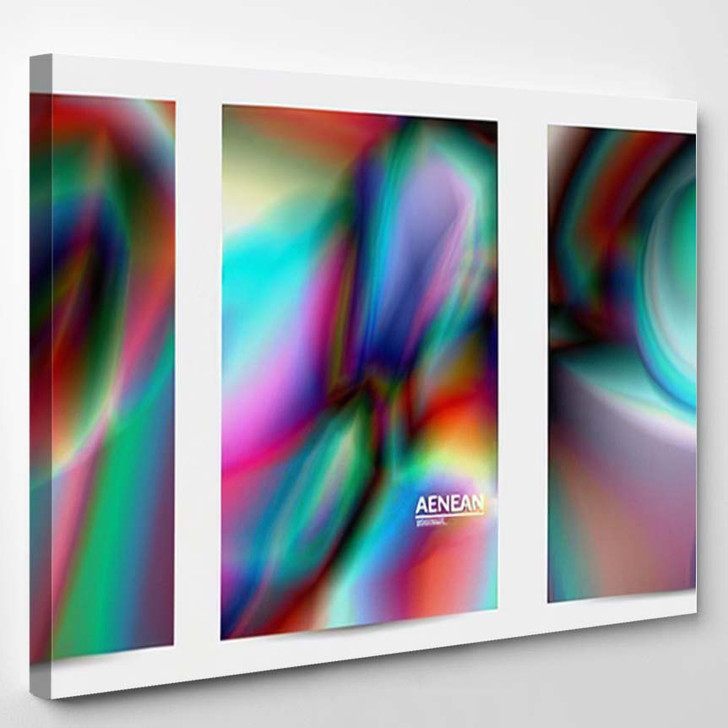 Abstract Smooth Gradient Colors Shiny Flare 9 - Galaxy Sky and Space Canvas Art Print