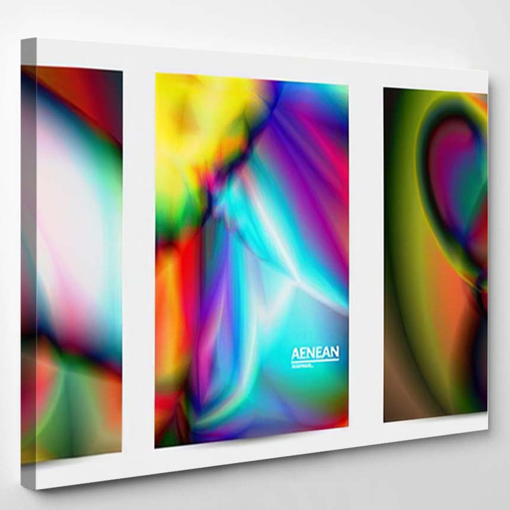 Abstract Smooth Gradient Colors Shiny Flare 11 - Galaxy Sky and Space Canvas Art Print