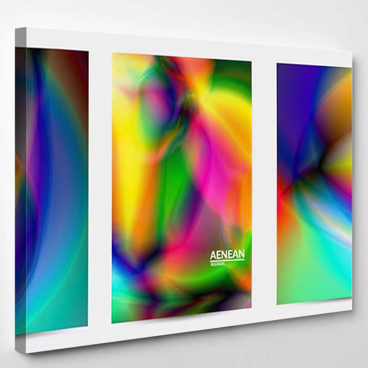 Abstract Smooth Gradient Colors Shiny Flare 16 - Galaxy Sky and Space Canvas Art Print