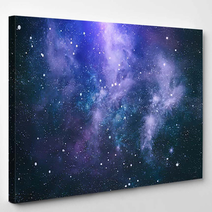 Abstract Space Background 3 1 - Galaxy Sky and Space Canvas Art Print
