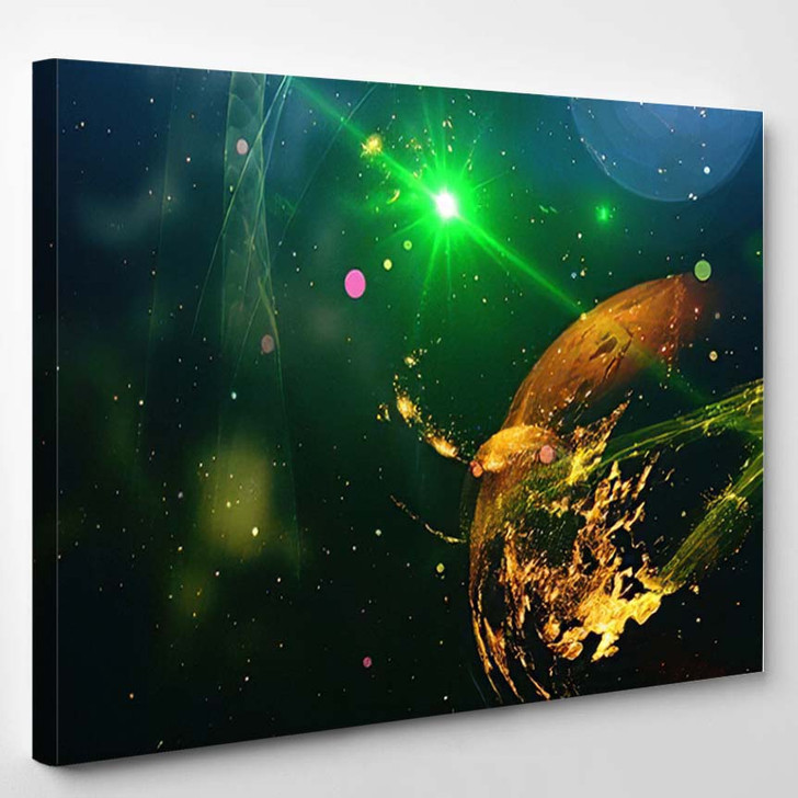 Abstract Space Background Science Fiction Wallpaper - Galaxy Sky and Space Canvas Art Print