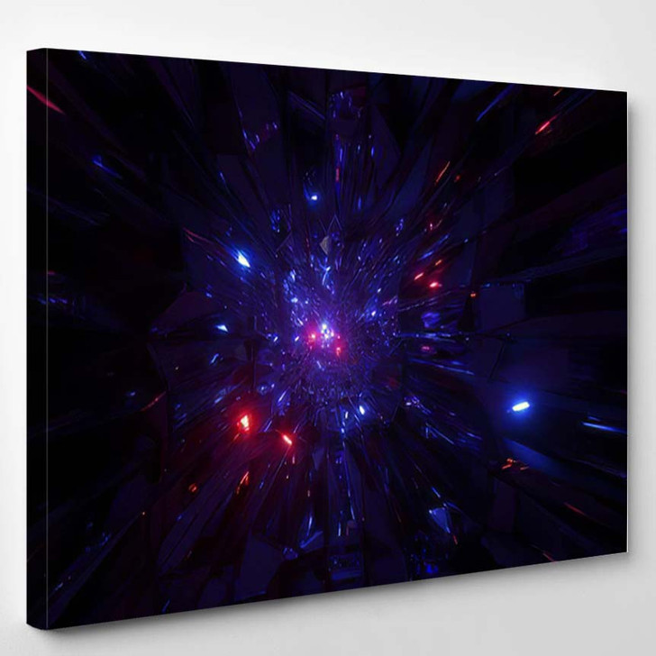 Abstract Space Galaxy Graphic Artwork Glowing - Galaxy Sky and Space Canvas Art Print