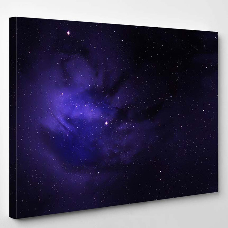 Abstract Space Nebula Backgrounds 1 - Galaxy Sky and Space Canvas Art Print
