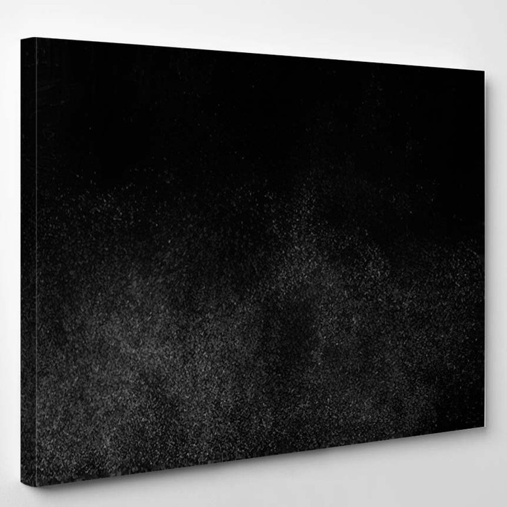 Abstract Splashes Water On Black Background 2 1 - Galaxy Sky and Space Canvas Art Print