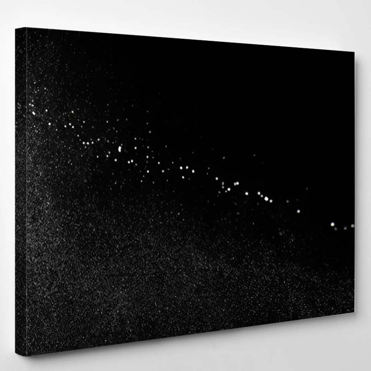 Abstract Splashes Water On Black Background 3 1 - Galaxy Sky and Space Canvas Art Print