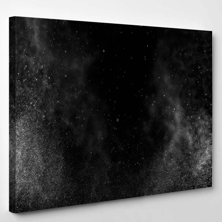 Abstract Splashes Water On Black Background 4 1 - Galaxy Sky and Space Canvas Art Print