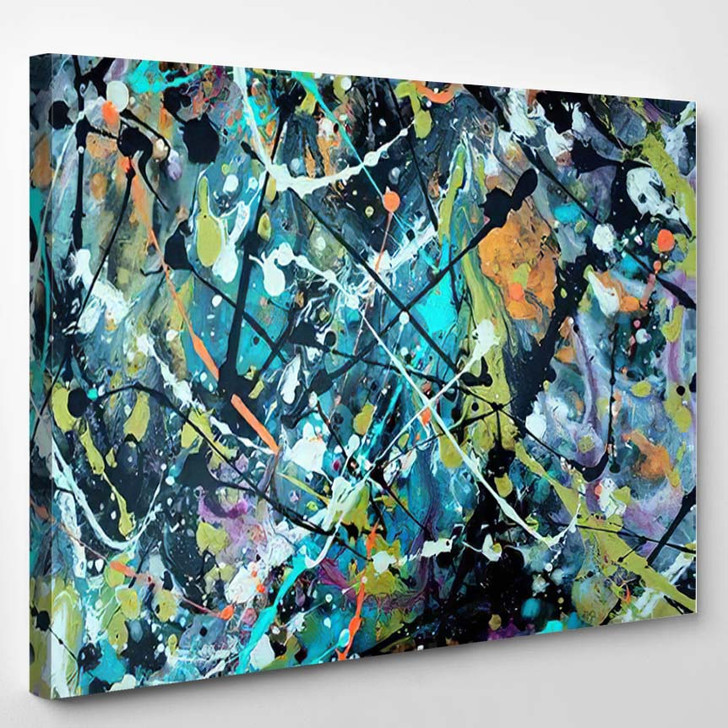 Abstract Stylish Colorful Background Original Oil - Galaxy Sky and Space Canvas Art Print