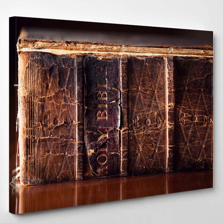 150 Year Old Bible Close - Canvas Art Print