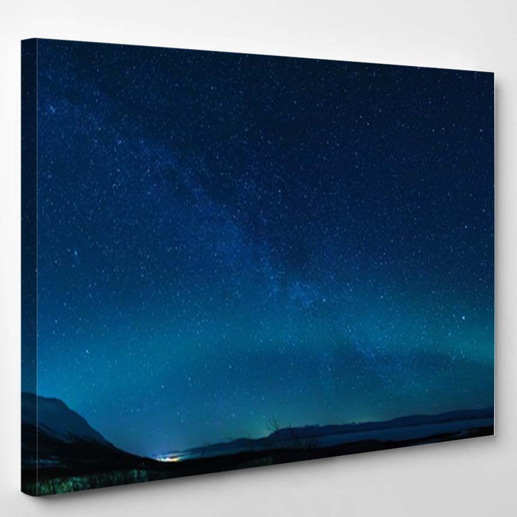 2D Illustration Deep Vast Space Bright - Canvas Art Print