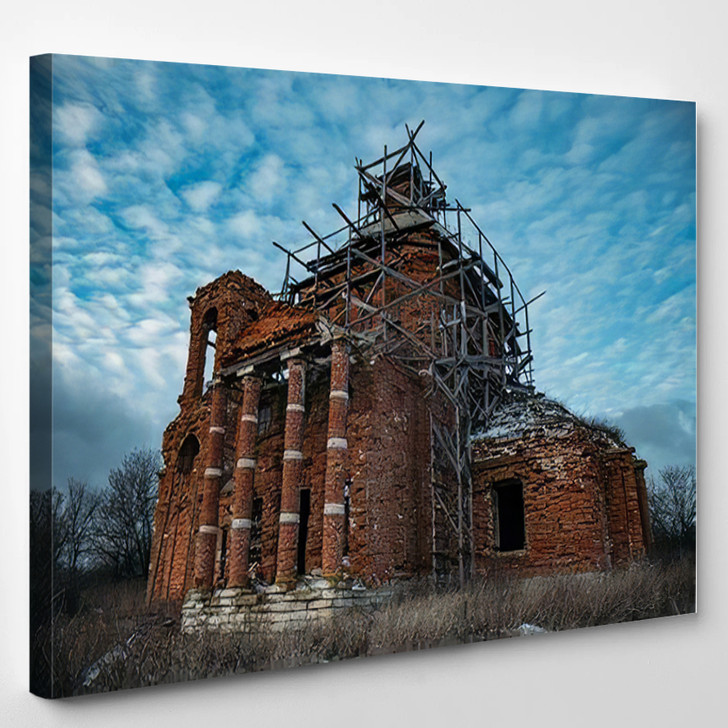 Abandoned Church St Nicholas Wonderworker Upper - Landmarks and Monuments Canvas Art Print