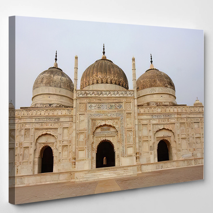 Abbasi Mosque Derawar Fort Bahawalpur Pakistan 1 - Landmarks and Monuments Canvas Art Print