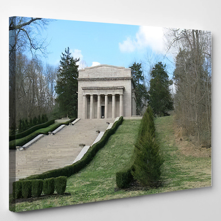 Abe Lincoln Birthplace - Landmarks and Monuments Canvas Art Print