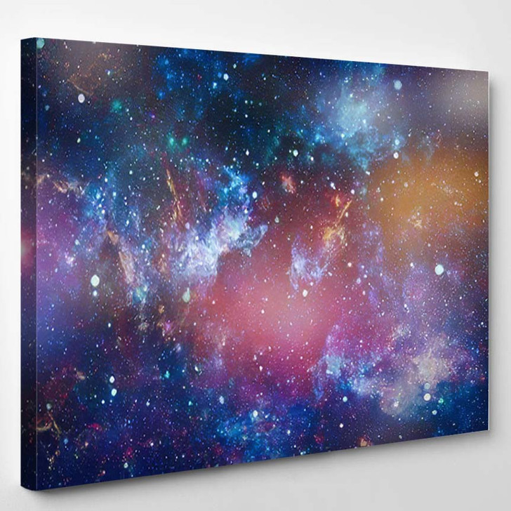 Space Many Light Years Far Earth - Galaxy Sky and Space Canvas Art Print