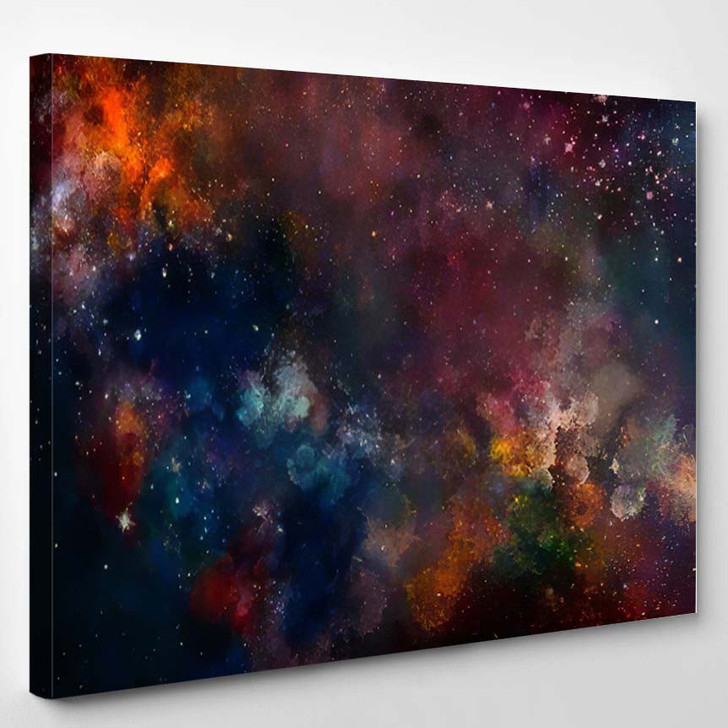 Star Field Galaxy Space Nebula Abstract 5 - Galaxy Sky and Space Canvas Art Print
