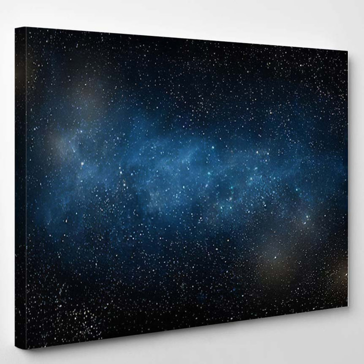 Starry Sky Galaxy - Galaxy Sky and Space Canvas Art Print