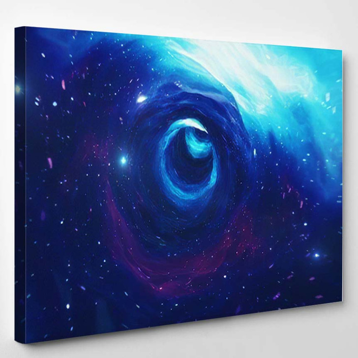 Travel Through Wormhole Time Space Filled 2 - Galaxy Sky and Space Canvas Art Print