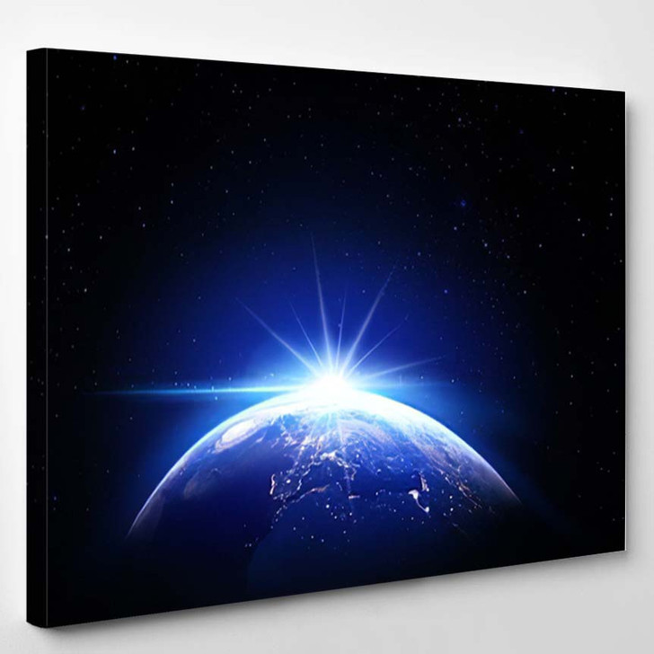 Universe Space Earth - Galaxy Sky and Space Canvas Art Print