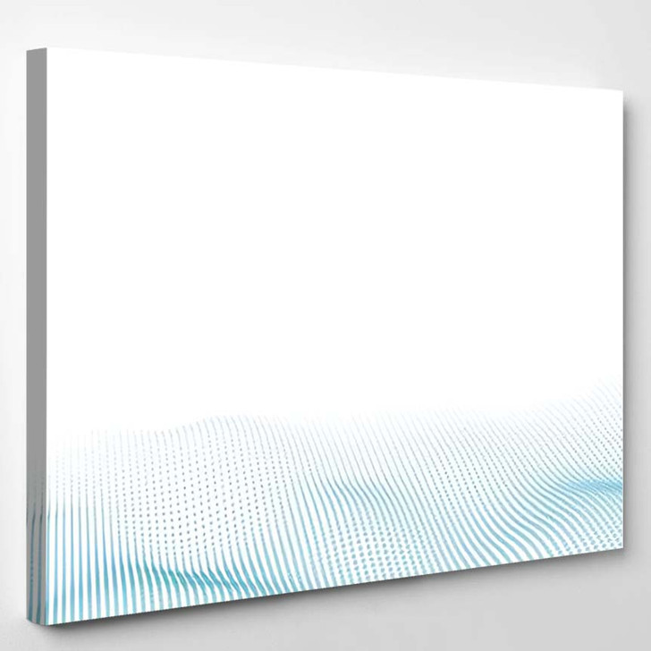 Vector Abstract Futuristic Digital Landscape Particles - Galaxy Sky and Space Canvas Art Print