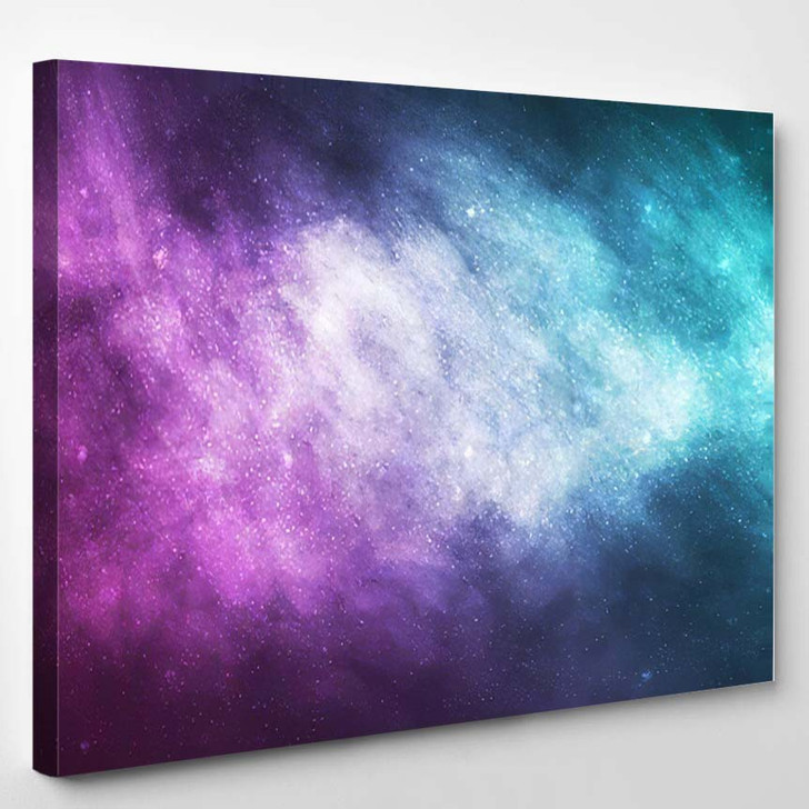 Vector Realistic Cosmic Galaxy Background Concept 1 - Galaxy Sky and Space Canvas Art Print