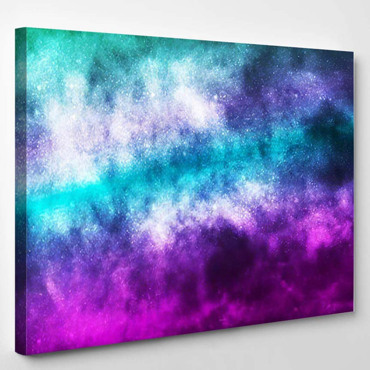 Vector Realistic Cosmic Galaxy Background Concept 2 - Galaxy Sky and Space Canvas Art Print