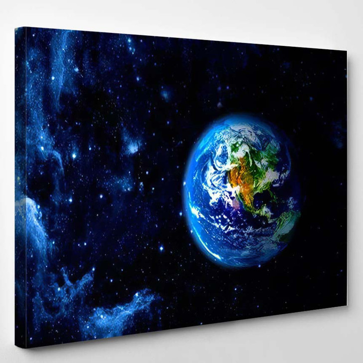 View Earth Moon Elements This Image 1 1 - Galaxy Sky and Space Canvas Art Print