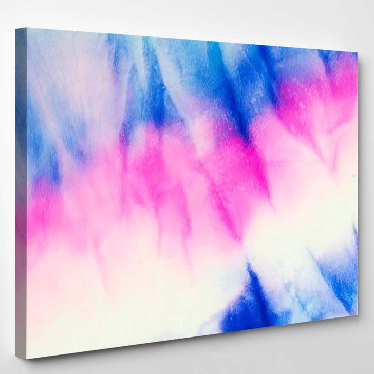 Watercolor Art Artistic Effect Bright Geode - Galaxy Sky and Space Canvas Art Print