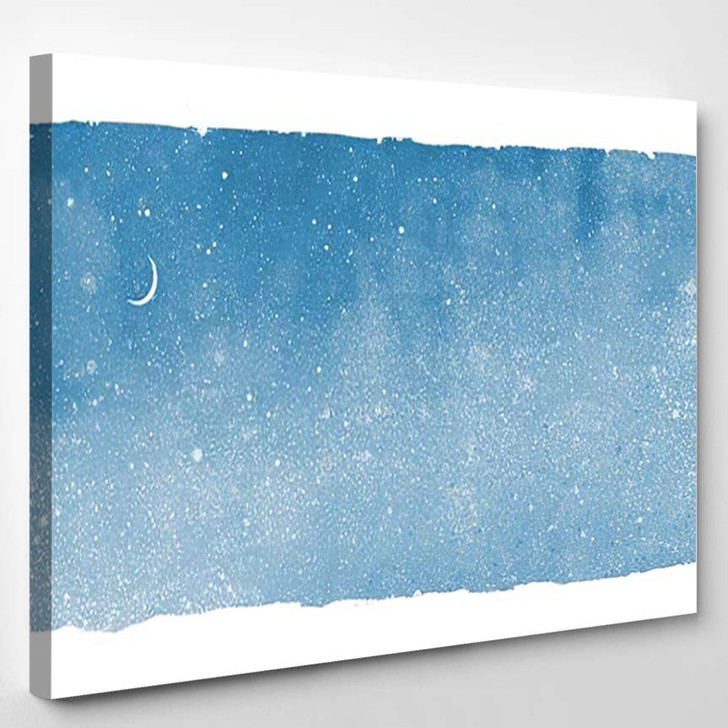 Watercolor Sky Rectangle Background Isolated On - Galaxy Sky and Space Canvas Art Print