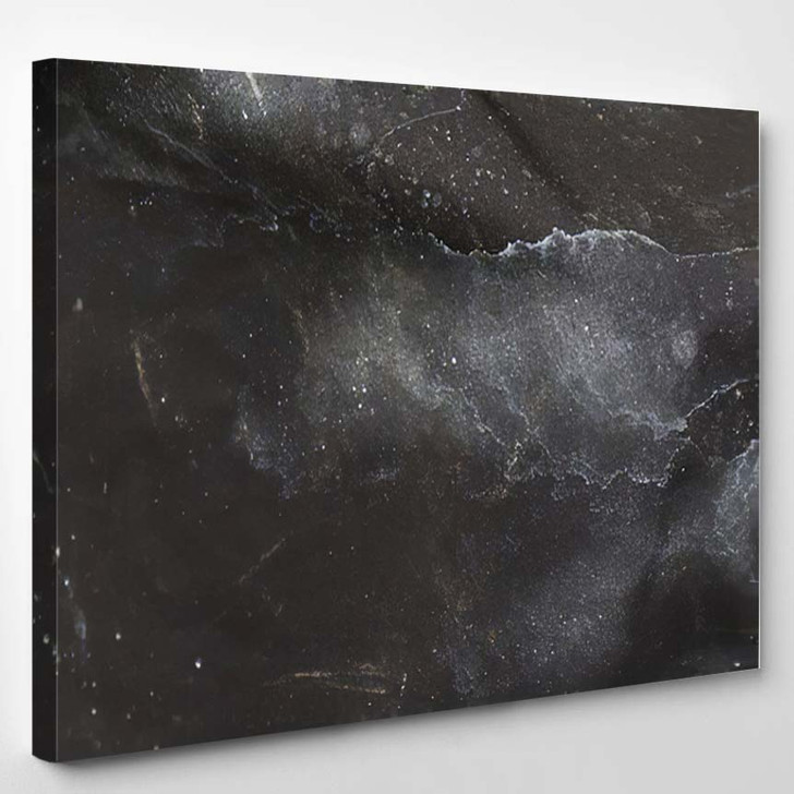 White Stains On Black Background Similar - Galaxy Sky and Space Canvas Art Print