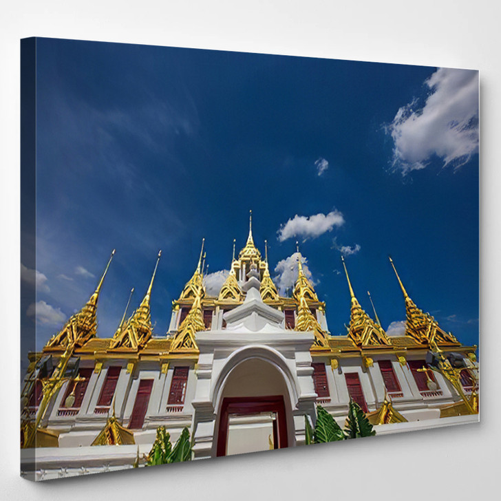Background Tourist Attractions Where People Come - Buddha Religion Canvas Art Print