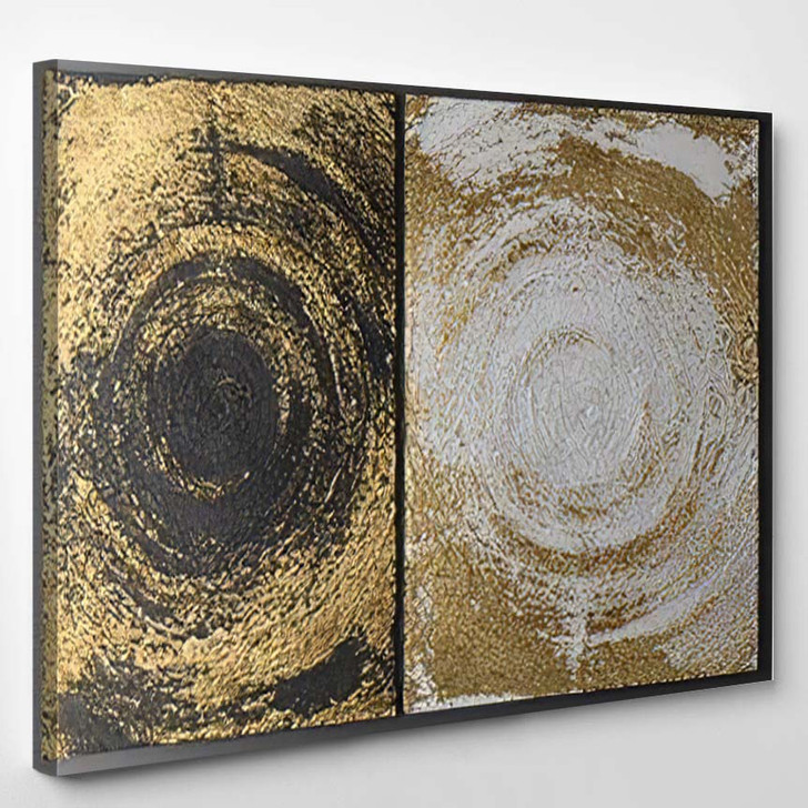 3D Wall Art Paintings Gold Leaf - Paintings Canvas Art Print