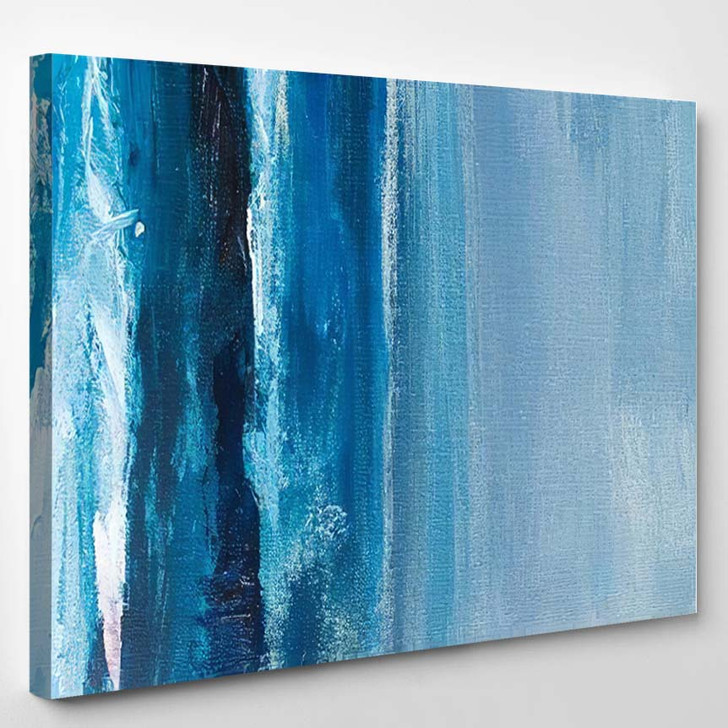 Abstract Art Background Multicolored Bright Texture - Paintings Canvas Art Print