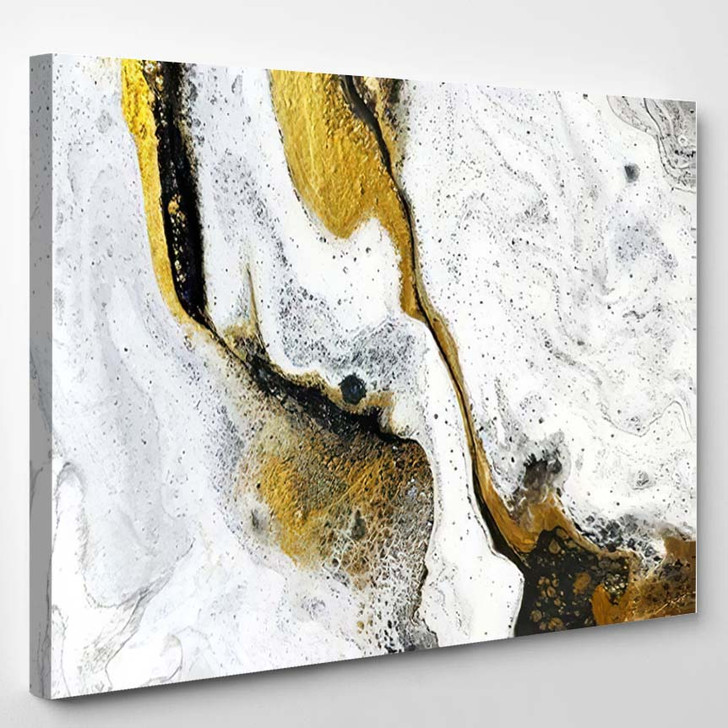 Abstract Background Acrylic Paints Marble Contemporary 2 - Paintings Canvas Art Print