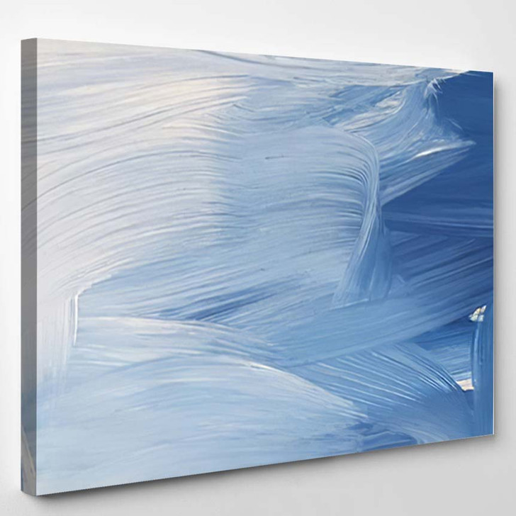 Abstract Blue Art Painting Background Modern - Paintings Canvas Art Print