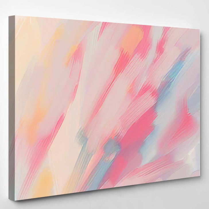 Abstract Brush Stroke Handdrawn Background Picturesque - Paintings Canvas Art Print