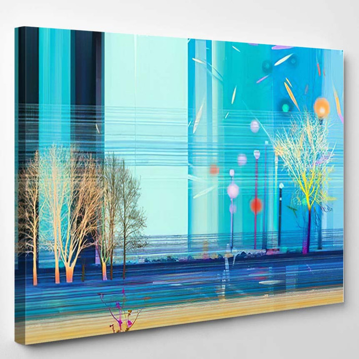 Abstract Colorful Oil Painting On Canvas 6 1 - Paintings Canvas Art Print