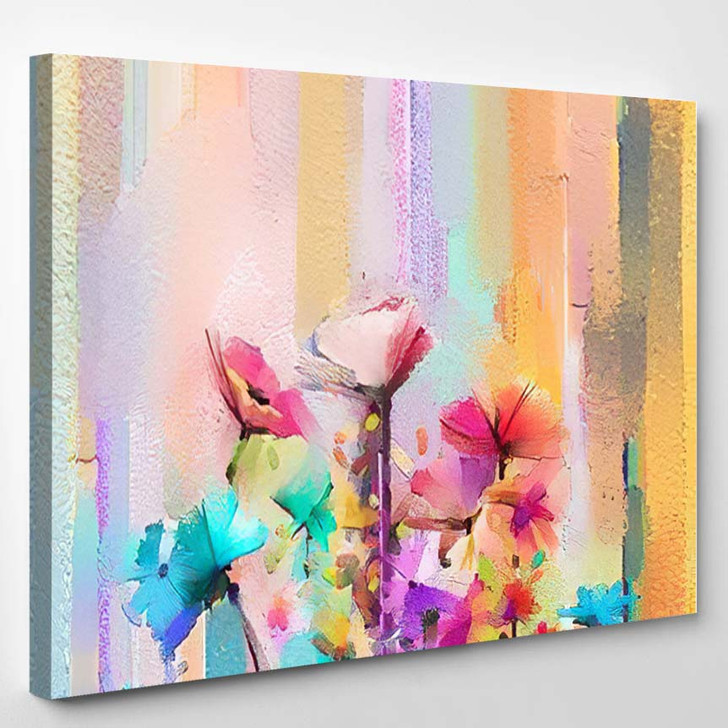 Abstract Colorful Oil Painting On Canvas 9 - Paintings Canvas Art Print