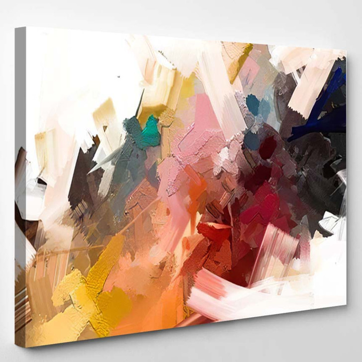 Abstract Colorful Oil Painting On Canvas 10 - Paintings Canvas Art Print